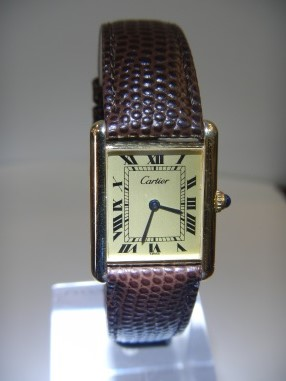 Vintage Watches For Sale Cartier tank du Must - SOLD